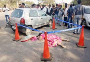 Woman died in Road Accident1